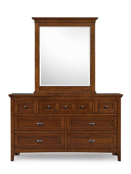 Y1873-20/42 Drawer Dresser & Portrait Mirror