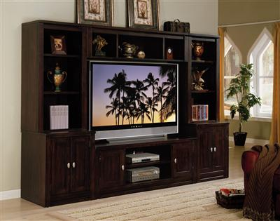 Simply Living Entertainment Center (Bridge)- Mahogany Finish