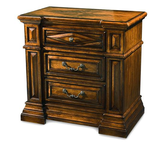 Marbella- 3 Drawer Nightstand- Tobacco